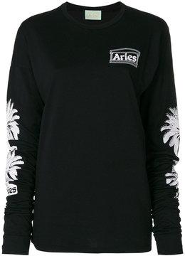 Aries palm tree print sweatshirt