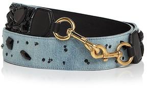Marc Jacobs Denim Stone-Embellished Handbag Strap - DENIM MULTI/GOLD - STYLE