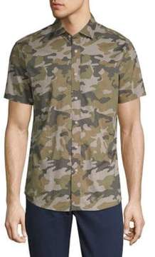 Slate & Stone Camouflage Cotton Button-Down Shirt