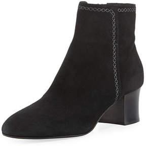 Aquatalia Florine Suede Zip Ankle Boot