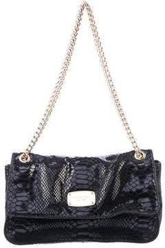 MICHAEL Michael Kors Embossed Suede Shoulder Bag