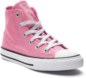 Converse Girls' Chuck Taylor All Star Glitter High Top Sneakers
