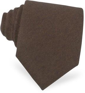 Forzieri Solid Brown Cashmere Tie