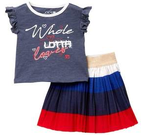 Joe's Jeans Graphic Top & Skirt 2-Piece Set (Baby Girls)