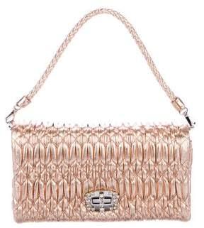 Miu Miu Metallic Matelasse Bag