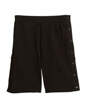 Stella McCartney Dante Knit Shorts w/ Side Snaps, Size 4-10