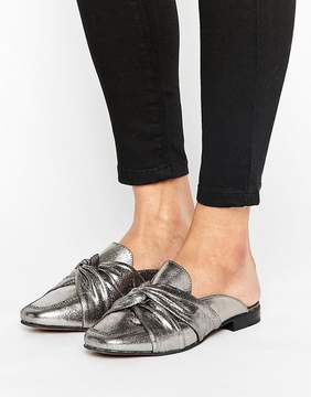New Look Leather Knotted Flat Mule