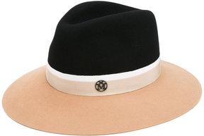 Maison Michel contrast trim hat