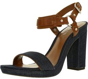 Lauren Ralph Lauren Women's Faustine-Sn-Csl Denim/Leather Dark Blue/Deep Saddle Ankle-High Leather Pump - 8.5M