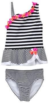 Flapdoodles Black/White Striped 2-Piece (Toddler Girls)