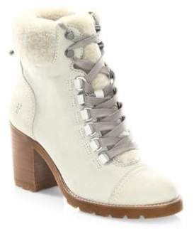 Frye Addie Shearling & Nubuck Hiker Booties