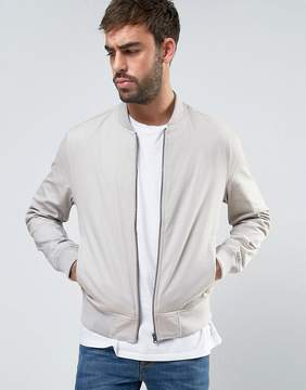 New Look Cotton Bomber In Stone