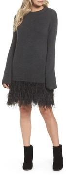 Chelsea28 Women's Feather Hem Sweatshirt Dress