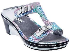 Alegria Leather Slip-on Sandals w/ StrapDetails - Lara