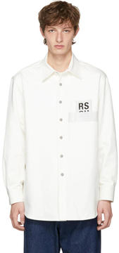 Raf Simons White Carry Over Denim Shirt