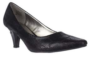 Karen Scott Ks35 Meaggann Pointed Toe Dress Pumps, Black.