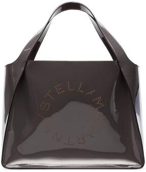 Stella McCartney charcoal small logo print tote bag