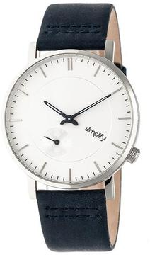 Simplify The 3600 Collection SIM3601 Silver Analog Watch