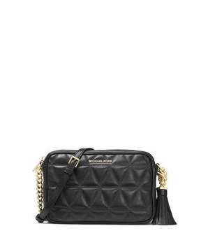 MICHAEL Michael Kors Ginny Medium Quilted Camera Bag - BLACK - STYLE