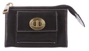 Marc Jacobs Leather Zip Pouch - BLACK - STYLE