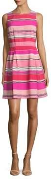 Cynthia Steffe Stripes Pleated Dress