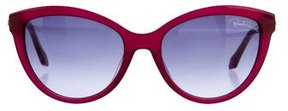 Roberto Cavalli Embellished Cat-Eye Sunglasses