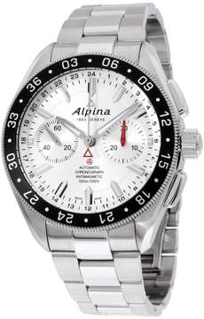 Alpina Alpiner AL860S5AQ6B Silver Dial Stainless Steel 44mm Mens Watch