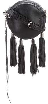 Rebecca Minkoff Leather Fringe-Trimmed Bag - BLACK - STYLE