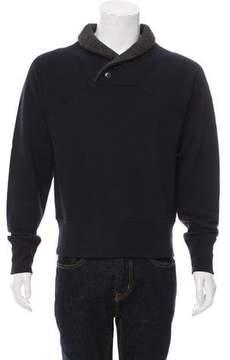 Billy Reid Woven V-Neck Sweater