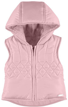 Mayoral Quilted Hooded Fleece-Lined Vest, Size 6-36 Months