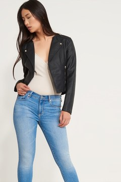 Dynamite Faux Leather Moto Jacket