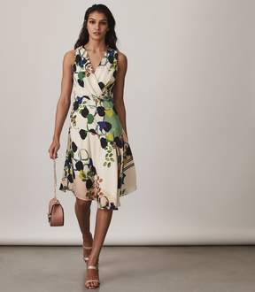 Reiss Magnolia Floral-Printed Dress