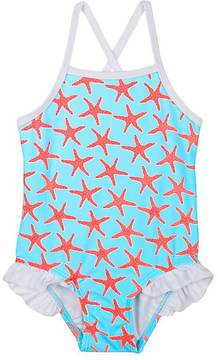 Snapper Rock STARFISH-PRINT ONE-PIECE SWIMSUIT