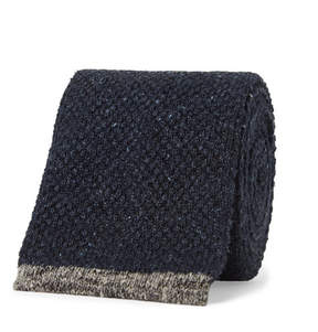 Brunello Cucinelli 6.5cm Contrast-Tipped Knitted Mélange Silk Tie