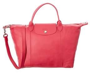 Longchamp Le Pliage Cuir Leather Medium Handbag. - PINK - STYLE