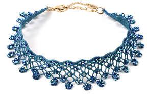 Amrita Singh Blue Aria Lace Choker Necklace