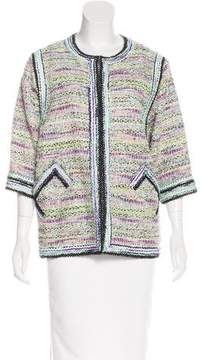 Andrew Gn Collarless Tweed Jacket
