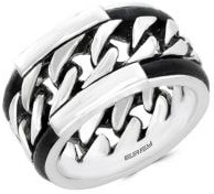 Effy Men's Leather and Sterling Silver Ring