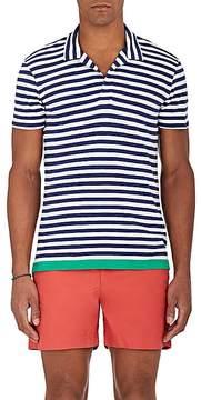 Orlebar Brown Men's Felix Striped Cotton-Linen Polo Shirt