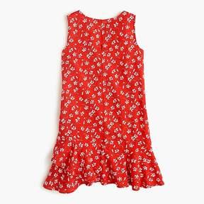 J.Crew Girls' ruffle-hem dress in fresh daisies
