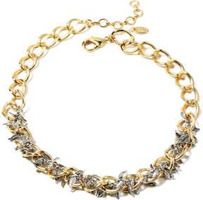 Amrita Singh Goldtone & Silver Petal Necklace