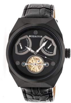 Heritor Oxford Automatic Black Dial Men's Watch