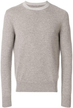 Bottega Veneta contrast collar sweater