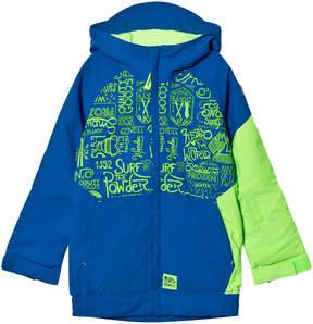 O'Neill Blue and Yellow Interior Ski Jacket
