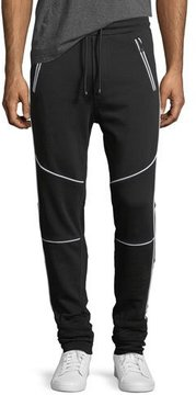 Just Cavalli Cotton Moto Jogger Pants