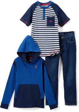 DKNY Dress Blues Downtown Boy Hoodie Set - Infant, Toddler & Boys