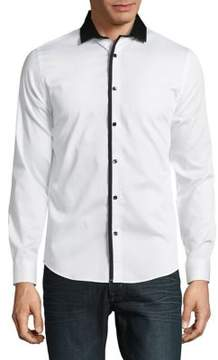 Karl Lagerfeld Piped Button-Down Shirt