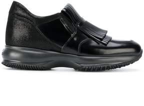 Hogan fringe detail slip-on sneakers