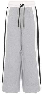 Burberry Wide-leg cotton trackpants