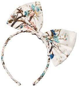 No Added Sugar Peacock Printed Bow Headband